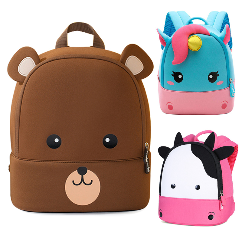 Toddler Kids Backpacks 3D Cartoon Bear School Bags For Boys Girls Plecak Children School Backpack Mochila Escolar