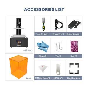 Image 5 - Langer Oranje 30 Sla 3D Printer 2K Lcd 405nm Matrix Uv Licht Hars Printer Diy Sieraden Dental Professionele 3d printer Kit