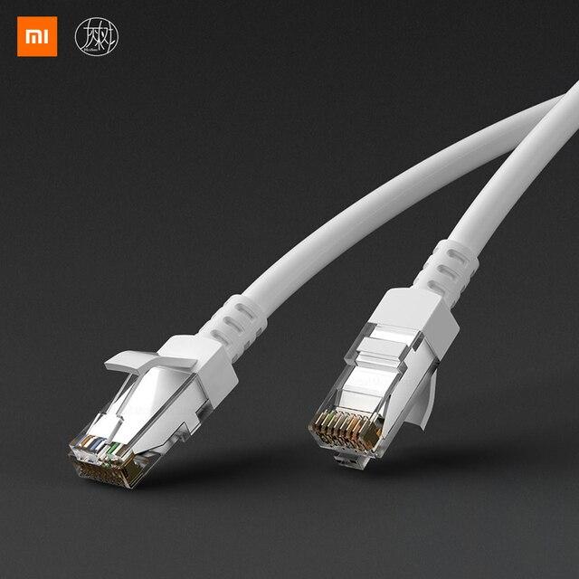 Xiaomi Mijia קטגוריה 6 CAT6 Gigabit Ethernet כבל מחקר חדר שינה יציבה לא קטון להביא RJ45 יציאת רשת יציבה מחשב