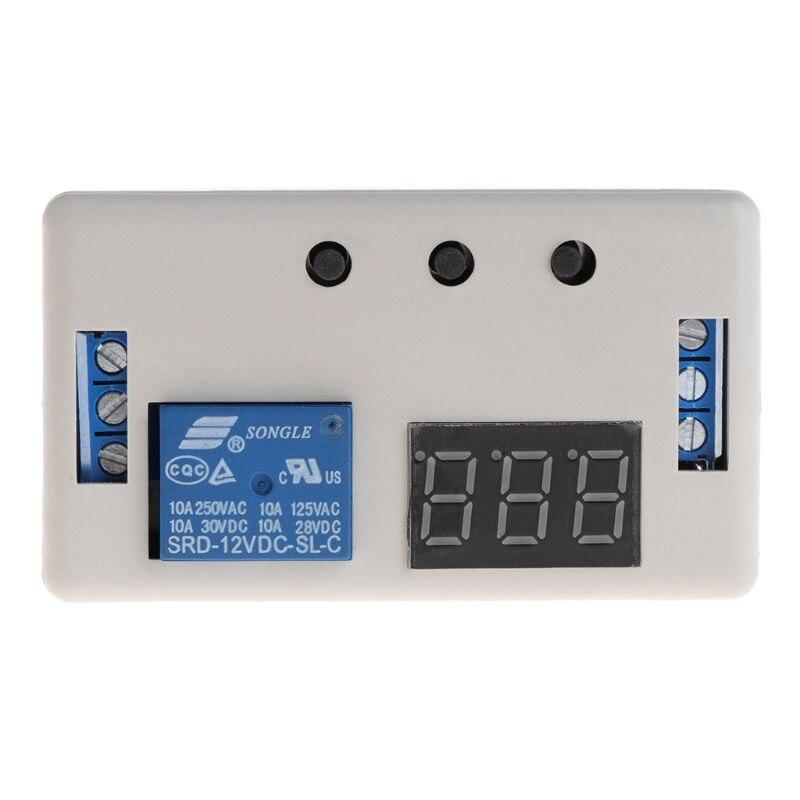 1 unidad de Control de 12V CC temporizador programable Digital retardo de tiempo Placa de módulo de relé w Case Empleado escaneando huella dactilar en la máquina para registrar el tiempo de trabajo 2000 usuarios más baratos asistencia máquina TimeTrak sistemas