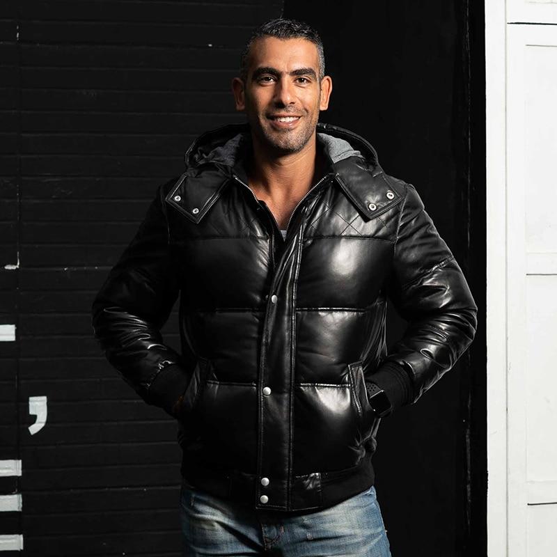 Winter Genuine Leather Down Jacket Men Short Sheepskin Coat Men's Winter Jackets Puffer Duck Down Coat XGY22055 KJ1144