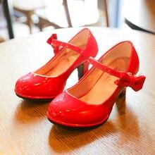 Girls Leather Shoes Autumn Bowtie Sandals 2019 New Children