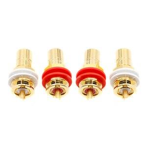 Image 5 - Amplificateur hifi prise RCA connecteur de cmc816u RCA pour haut parleur cuivre plaqué or cmc816 prise RCA
