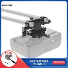 Camvate Verstelbare 15Mm Dual Clamp Met 360 ° Swivel Staaf Adapter & V Lock Vrouwelijke Quick Release Adapter Voor dslr Camera Voeding