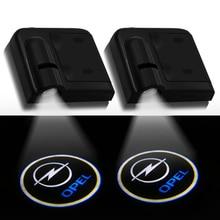 2pcs Car LED Door Welcome Logo Light for Opel Astra H G J Insignia Mokka Zafira Corsa