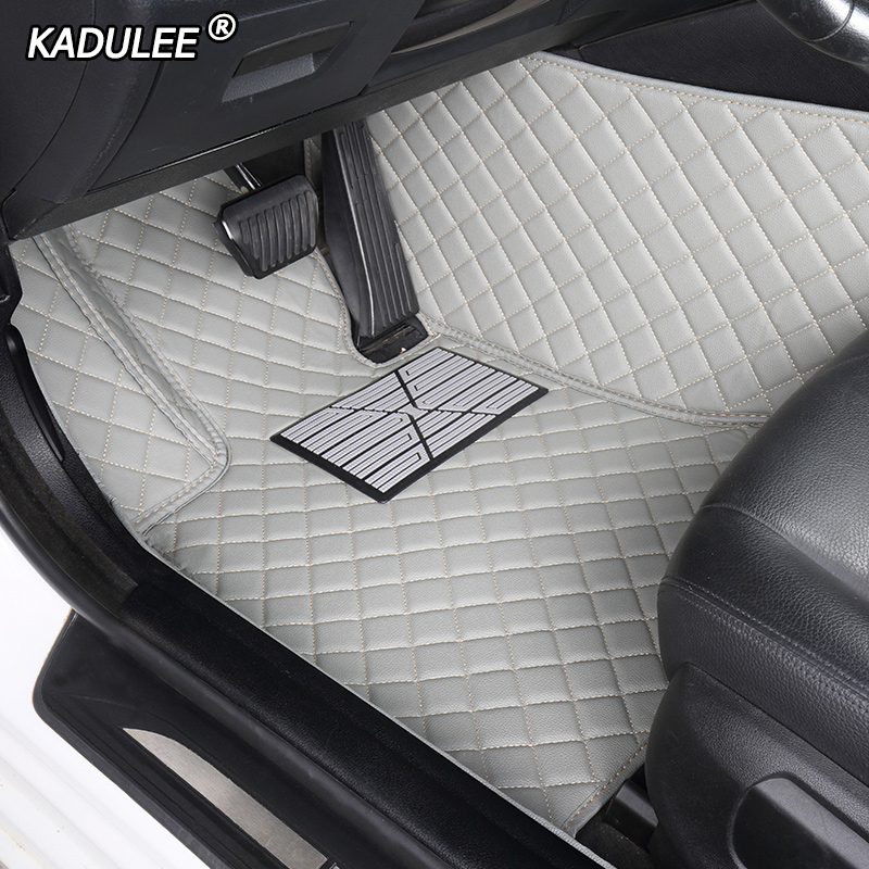 Custom car floor mats for <font><b>hyundai</b></font> <font><b>santa</b></font> <font><b>fe</b></font> getz tucson ix25 ix35 creta elantra kona i30 leather all models car mats accessories image