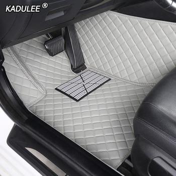 Custom car floor mats for hyundai santa fe getz tucson ix25 ix35 creta elantra kona i30 leather all models car mats accessories
