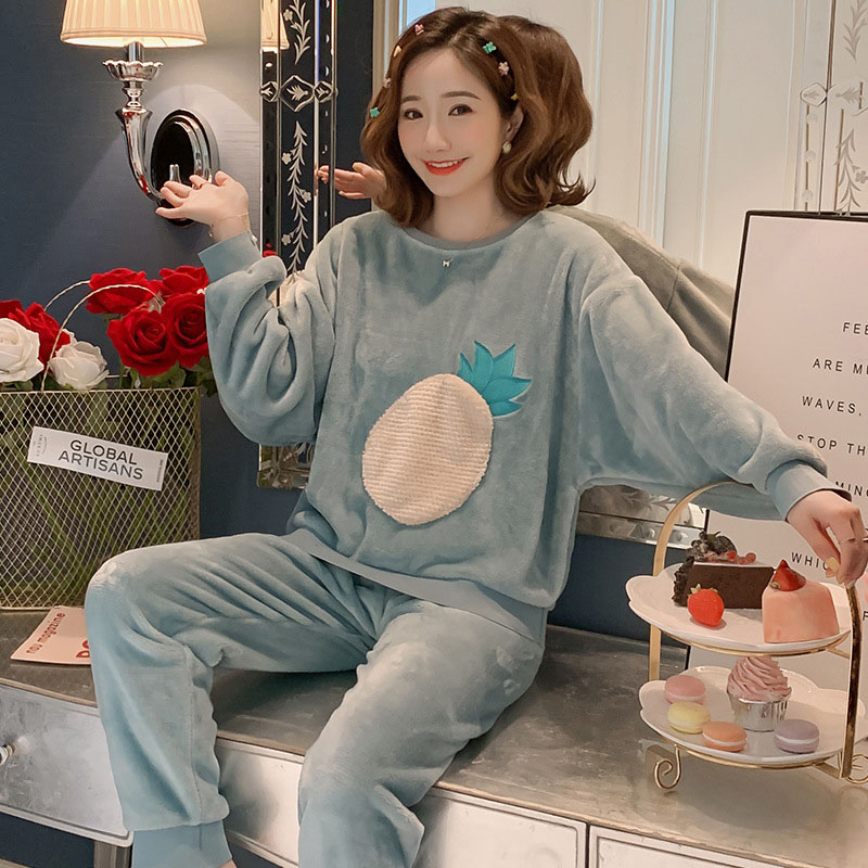 Betyline 2019 New Winter Pajamas For Women Sleepwear Warm Flannel Long Sleeves Pajamas Cute Animal Homewear Thick Homewear 125
