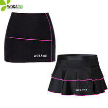 WOSAWE New Womens Cycling Skirt Outdoor Mini Bike Bicycle Cycle Pleated Skirts Shorts Black