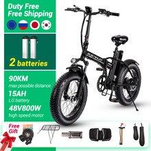 Bicicleta elétrica max 45km/h 800w 500 48v elétrica mountain bike vtt 4.0 pneu gordo bicicleta elétrica praia ebike