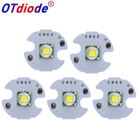 50 100PCS CREE XML XM L T6 LED U2 10W WHITE High Power LED Emitter Diode with 12mm 14mm 16mm 20mm PCB for DIY
