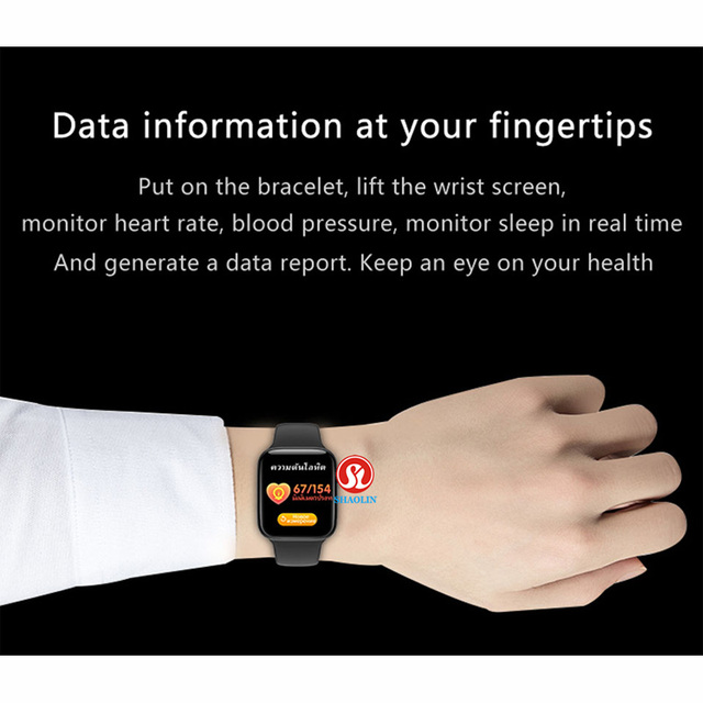 Man Woman Smart Watch 44mm Heart Rate Monitor Series 5 Sports Smartwatch for Apple watch iOS 9 10 iPhone 8 Android Phone pk iwo