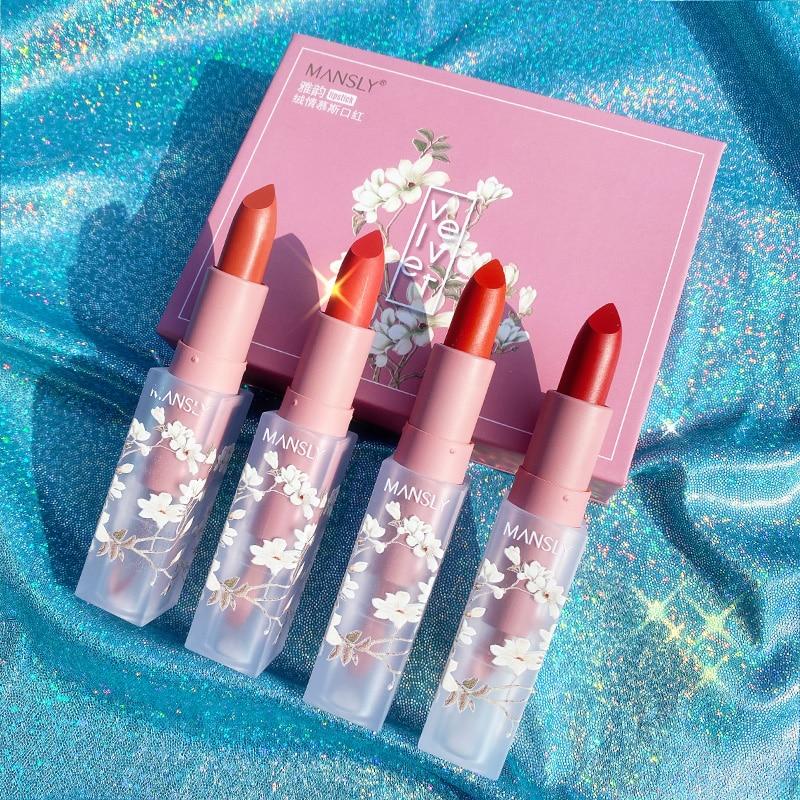 MANSLY Sakura Christmas Limited Lipstick Set Female Student Model Cheap Niche Brand Genuine Gift Box