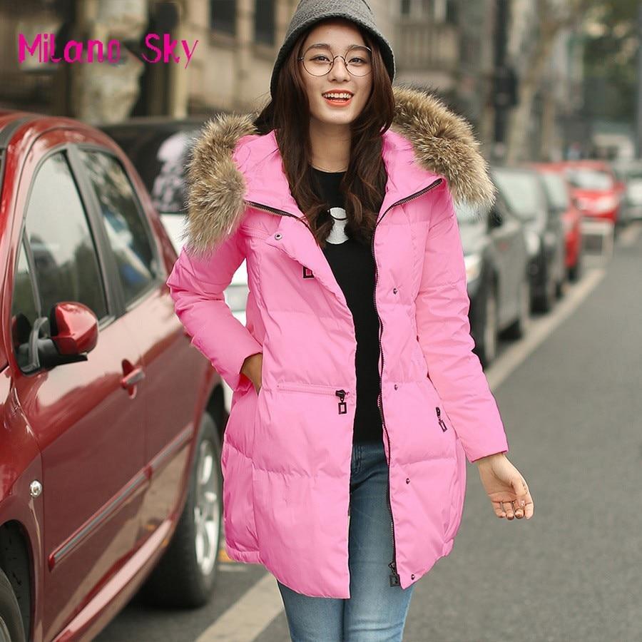 Fashion Loose Medium Long Thick Warm Casual Down Coat Winter Jacket Women Coat Casaco Feminino Abrigos Y Chaquetas Fur Parka L01