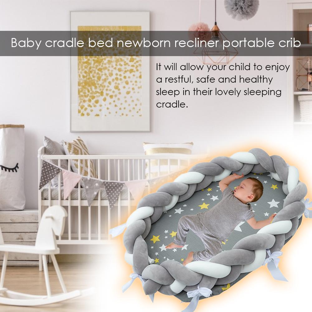 Doux bébé couffin lit Portable coton berceau respirant hypoallergénique bébé chaise longue pour 0-36 mois bébé literie fournitures