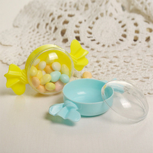 12pc/lot Plastic Candy Gift Boxe Lovely Candy Shape Candy Box Round Chocolate Candy Boxes Wedding Birthday Baby Shower Decor candy moyo cmh53