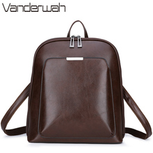 3 in 1 Vintage Women Backpack High Quality Youth Leather Backpacks for Teenage Girls Female School Shoulder Bag Bagpack mochila