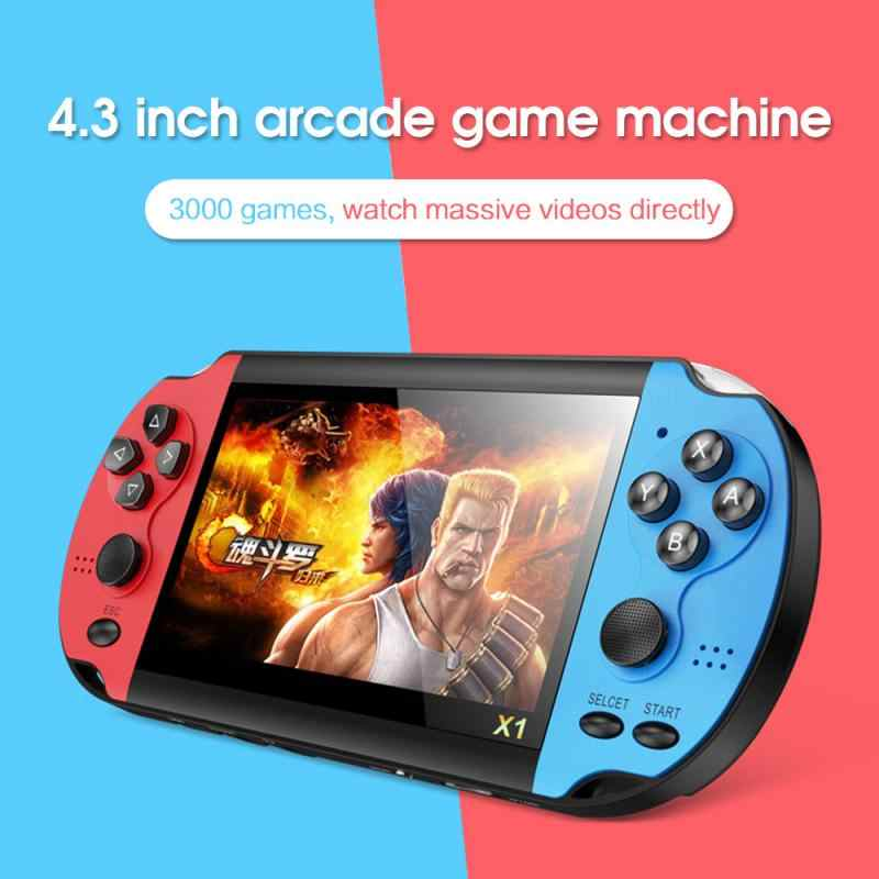 10000 Games Handheld Classic Console Video Game 4.3-inch Nostalgic Classic Dual-Shake Game Console 8G Game Player