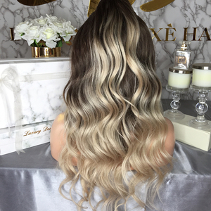 Image 4 - JRX włosy pleciony mieszane szary kolor koronki przodu peruki ciało fala wstępnie oskubane Hairline brazylijski ludzki włos peruka dla czarnych kobiet