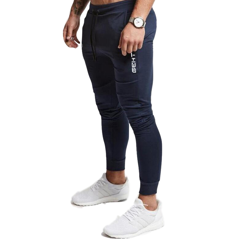 2019 Casual Skinny Pants Mens Joggers Sweatpants  Fitness Workout Brand Track pants New Autumn Male Fashion  Trousers 4