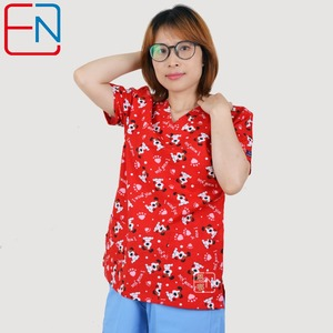 Image 3 - Scrub tops for women  ,scrub uniform in 100% print cotton HENNAR BRAND
