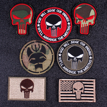 Pulaqi Seal Team Velcros Patch Punisher Embroidered Patches For Clothing Military Applique Patch Stripes Tactical flag patches F pulaqi camo seal team velcros patch army military magic patch stripes fabric navy seals patches for clothing badges appliques