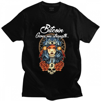 Novelty Male Modern Bitcoin Shaman T-shirt Men Short Sleeved Cotton Graphic Tshirt Harajuku Streetwear Tee Shirt Fashion Clothes 1