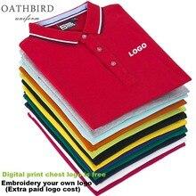 Toptan unisex tasarım isteğe göre polo gömlek nakış ile kendi şirket logosu