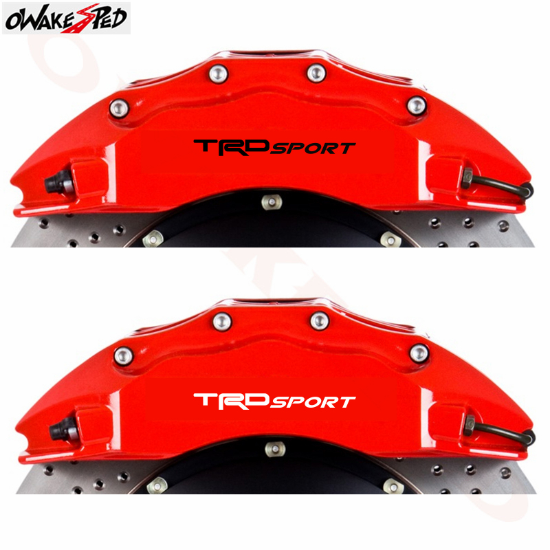 Image 5 - For Toyota TRD Sport 4PCS Car Temp Brake Caliper Stickers Rims Alloy Wheels Curved Vinyl Decals Auto Doorknob Decor Sticker-in Car Stickers from Automobiles & Motorcycles