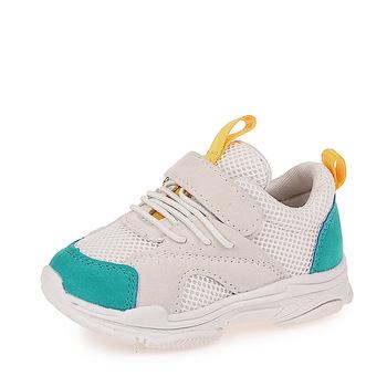 Dziecięce buty siatkowe dopasowane kolory dziecięce tenisowe oddychające sportowe buty modne obuwie dziewczęce chłopięce trampki tanie i dobre opinie Wszystkie pory roku RUBBER Unisex Pasuje prawda na wymiar weź swój normalny rozmiar 24 m 11 t Patch Hook loop PLAID