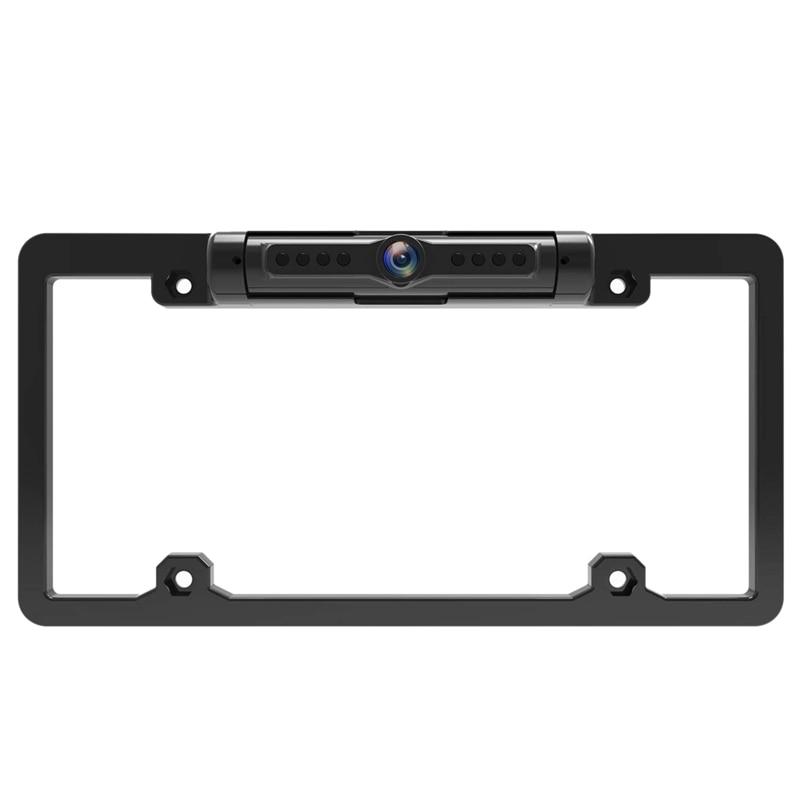 Cadre de plaque d'immatriculation de voiture américaine caméra de sauvegarde sans fil Wifi caméra de recul pour voiture Rvs carte de ramassage 170 degrés Flexi