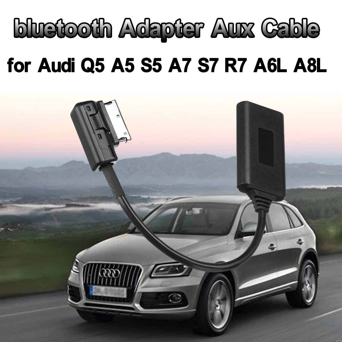 AMI MMI bluetooth ModuleAdapter Aux Cable Wireless Audio Input Aux Radio Media Interface For Audi Q5 A5 A7 R7 S5 Q7 A6L A8L A4L|Bluetooth Car Kit| |  - title=