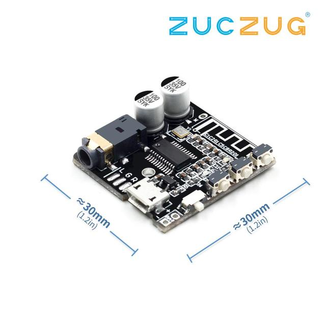 VHM-314 V.20 Bluetooth Audio Receiver board Bluetooth 5.0 mp3 lossless decoder board with Lithium battery charging 4