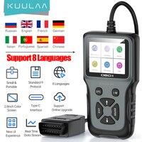 Kuulaa-ferramenta de diagnóstico automotivo obd2 v311, leitor de código de motor, testador de 8 idiomas