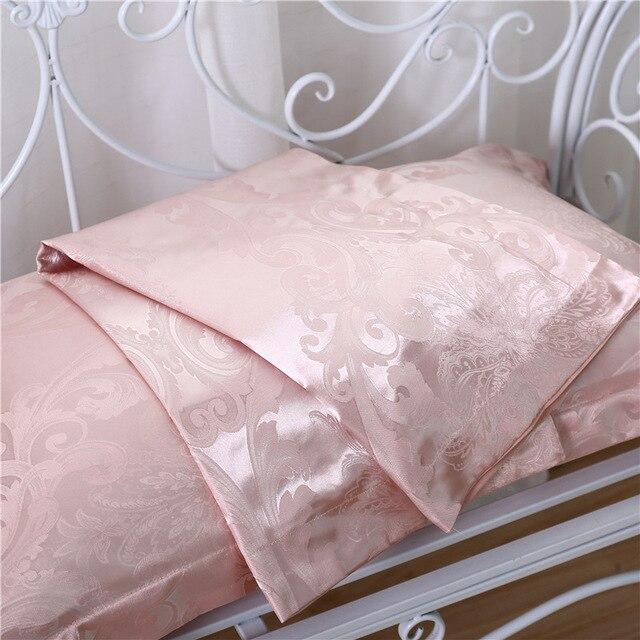 Фото 2 шт атласная шелковая наволочка в стиле ретро с цветочным принтом