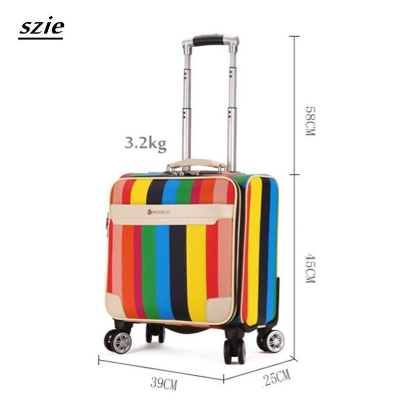 Letrend 3D Красочные вертушки для багажа, женские чемоданы розового золота, колесики, каюта, тележка, дорожная сумка, 20/24 дюймов, переноска на баг... - 2
