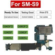 Originele Moederbord Voor Samsung Galaxy S9 Plus G965F G965FD G960F G960FD Dual Sim kaart 64G 128G Ontgrendeld Logic board Schoon Imei