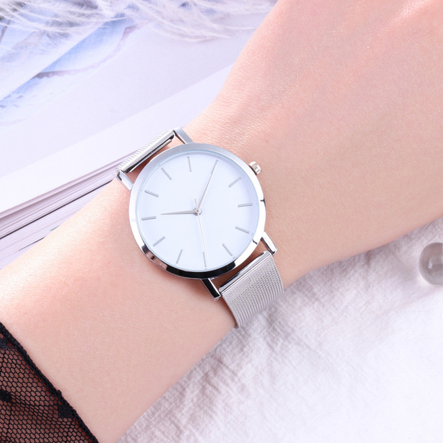 Fashion Women Watches Simple Romantic Rose Gold Watch 4