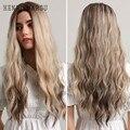 Женские парики с длинной кудрявой волной, черные, коричневые, светлые волосы, натуральные синтетические парики для косплея, термостойкие