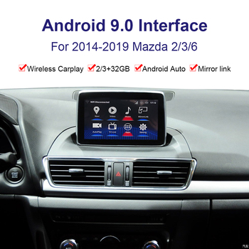 Android system car GPS navigation Video interface for Mazda Mazda2/3/6 2014-2019 multimedia player Youtube, Carplay image