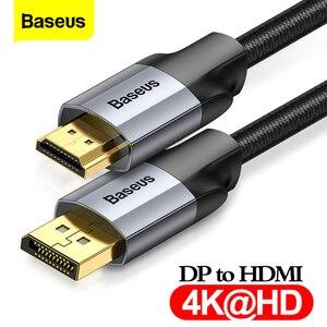Image 1 - Baseus dp do hdmi kabel 4K z męskiego na męskie port wyświetlacza displayport do hdmi adapter do kabla do projektora PS4 PC konwerter hdtv przewód