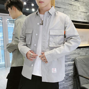 Shirt Work-Clothes Long-Sleeve Male New-Fashion Pure-Cotton Camisa Competitive-Products