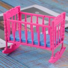 Schaukeln Wiege Bett Puppe Haus Spielzeug Möbel Für Kelly Barbie Puppe Zubehör Mädchen Spielzeug Geschenk Baby Dusche Geschenk Mädchen Spielzeug