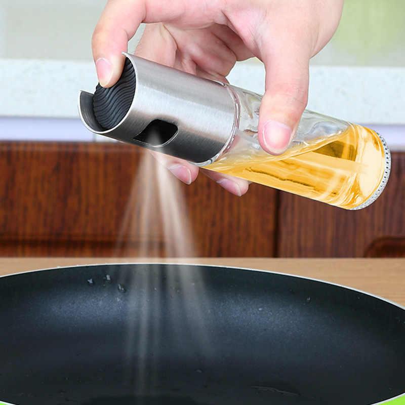 100 مللي زيت المطبخ رذاذ زجاجة فارغة زجاجة خل الاستغناء عن النفط التوابل زجاجة صوص الصويا سلطة شواء الطبخ رشاش زيت الزجاج