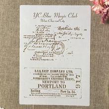 А4 29 см винтажная почта письма конверт diy наслоения трафареты
