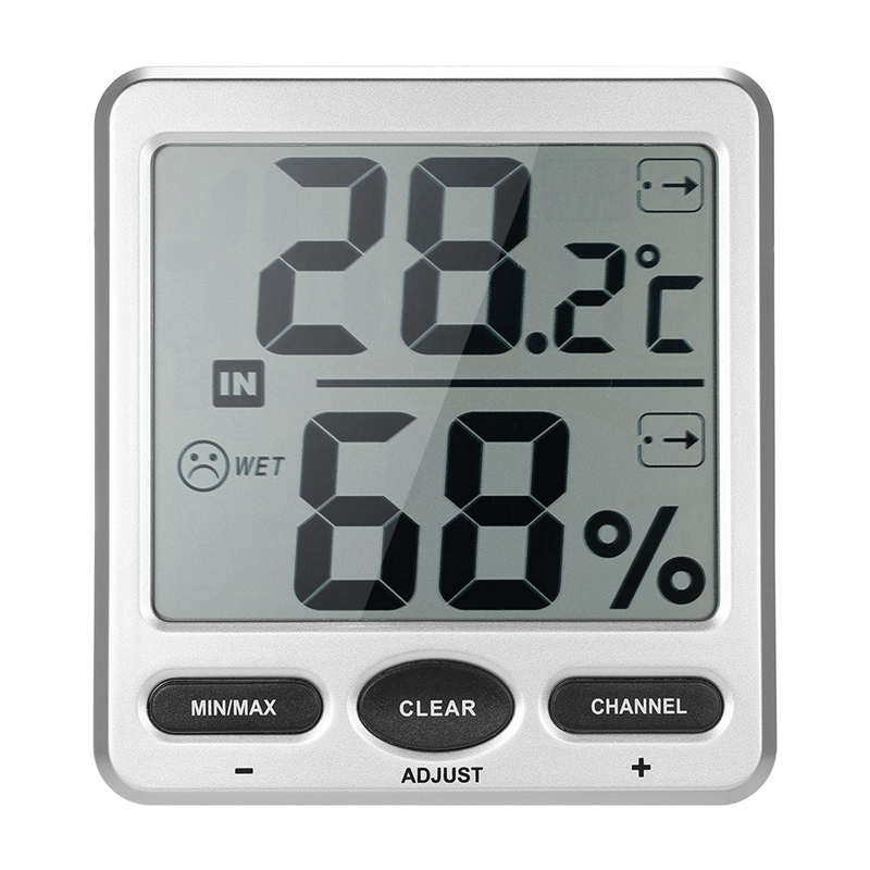 433Mhz Wireless Indoor and Outdoor 8-Channel Thermometer Hygrometer Thermometer and Hygrometer 1 Console +8 Transmitter-Ws-07-X5