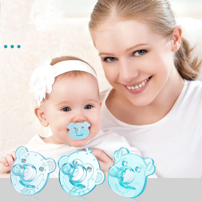 Silicone Material Soft Baby Flexible Pacifier Nipple Newborn Infant Feeding Orthodontic Dummy 2 Kinds Transparent Soother