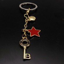 Retro Style Alloy Accessories Keychain Metal Star Key Chain Pendant Wholesale Boutique Small Gift Keyring Cute Woman цена 2017