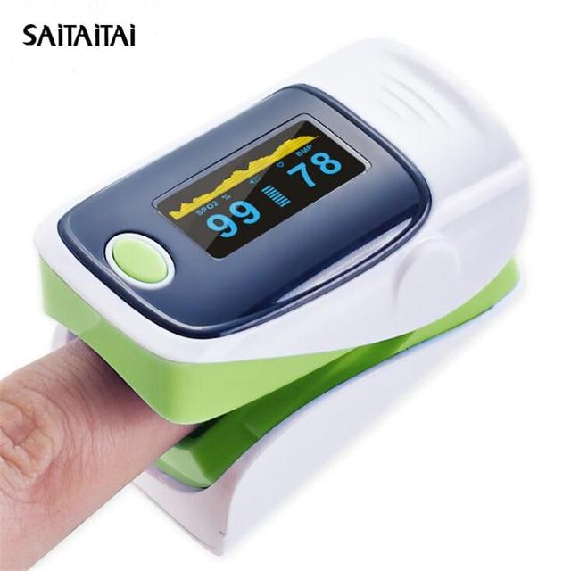 STT Portable Finger Pulse Oximeter Blood Oxygen Saturation meter Fingertip  SPO2 Monitor Oximetro de dedo Oximet 1