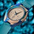 BOBO VOGEL Relogio Masculino Holz Uhr Männer Damen Schmuck Uhr Tinte Malerei Bunte Holz Uhren Akzeptieren Logo Angepasst Quarz-Uhren    -